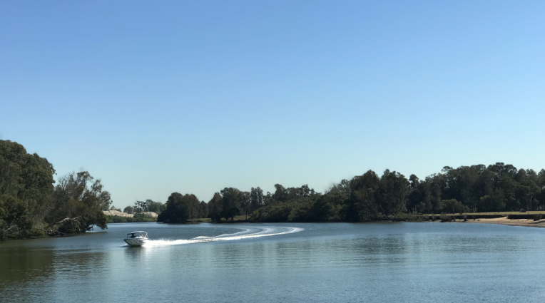 Boat driving on Georges river