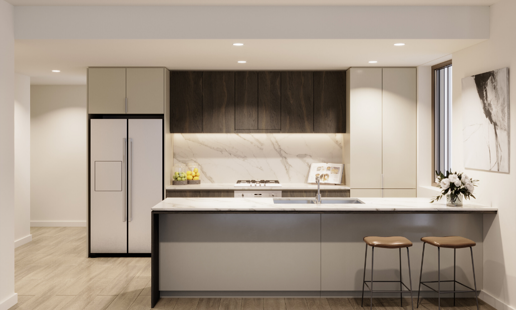 Ascot Green 20201 dark kitchen scheme