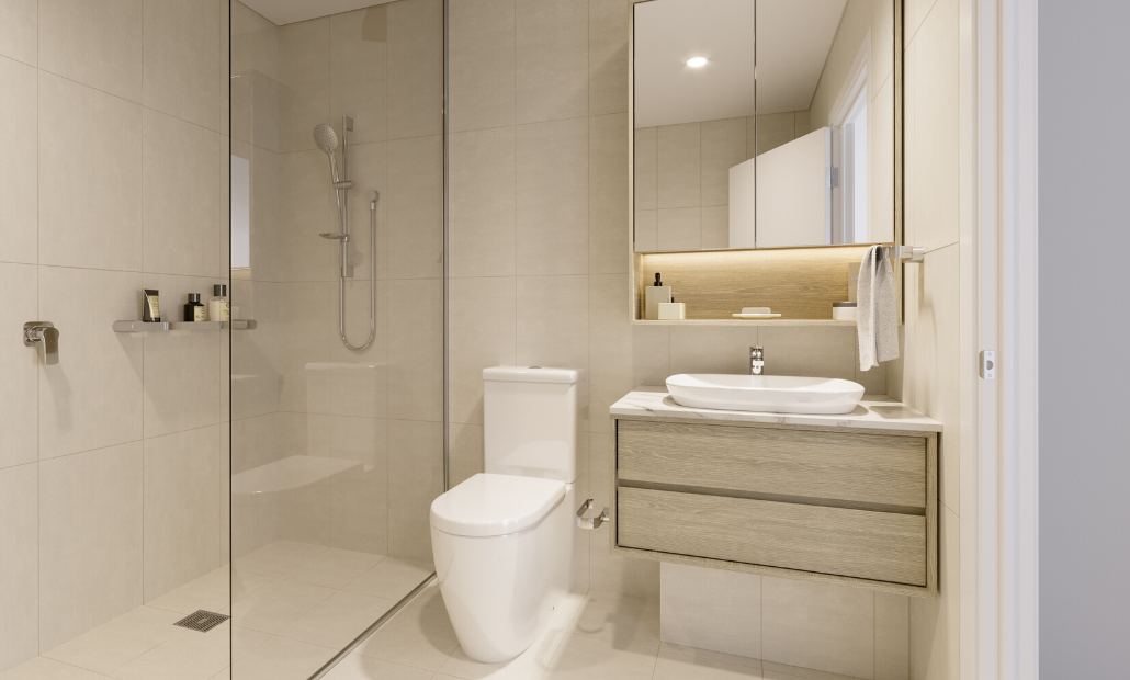 Ascot Green 20201 light bathroom scheme